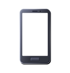 Realistic smart phone on white background vector