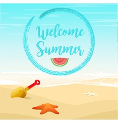 Tropical summer vacation background vector