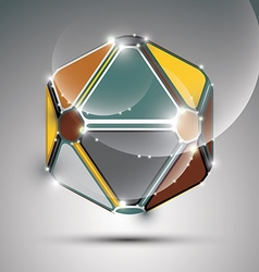 Abstract 3D metal festive sphere with sparkles vector image vector image