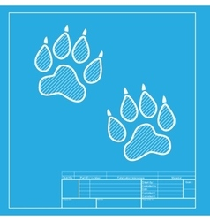 Animal tracks sign white section of icon on vector