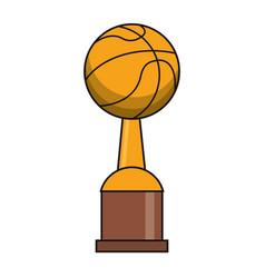 basketball trophy sport golden image vector image vector image