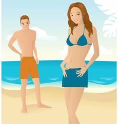 beach romance vector image
