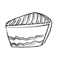 cake sliced dessert vector image