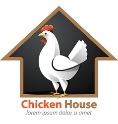 Chicken house vector
