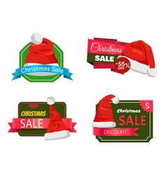 Christmas holiday sale badges vector