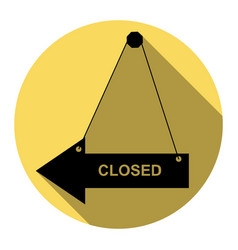 closed sign flat black icon vector image vector image