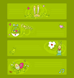 easter doodle templates vector image