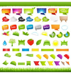 Eco And Nature Symbols vector image vector image