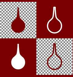 Enema sign bordo and white icons and line vector