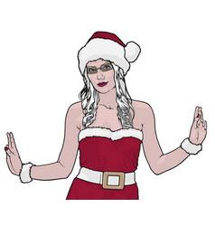 female santa claus vector image vector image