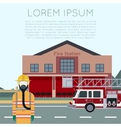 Fire station banner vector