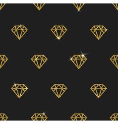 Glitter gold diamonds seamless background vector image vector image