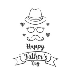 Happy father day celebration style vector