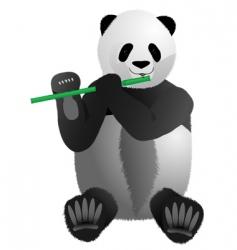musical panda vector image vector image