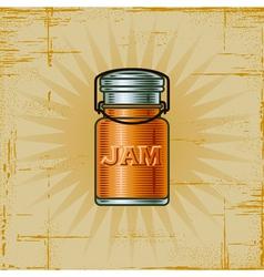 Retro Jam Jar vector image vector image