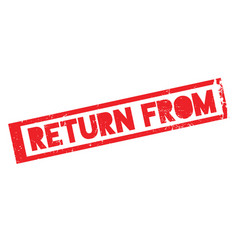 Return from rubber stamp vector