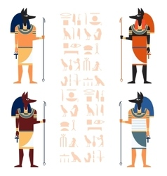 Set of Anubis vector image