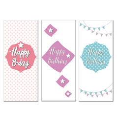 Set of birthday cards vector