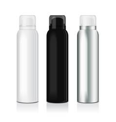 set of deodorant spray for women or men vector image