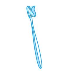 Shadow toothbrush cartoon vector
