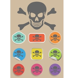 Skull and bones warning sign - vector image vector image