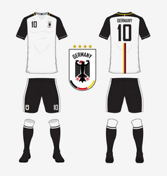 Soccer kit or football jersey template for germany vector
