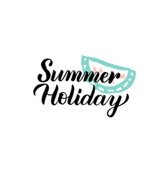 summer holiday calligraphy vector image
