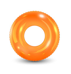 Swim ring inflatable rubber toy realistic vector