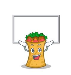 Up board kebab wrap character cartoon vector
