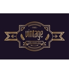 Vintage old style logo icon template vector image vector image