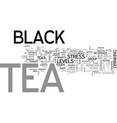 What is black tea text word cloud concept vector