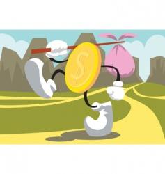 coin-walk vector image
