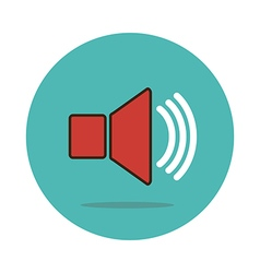 Audio speaker volume icon vector