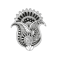 zentangle boho flower vector image