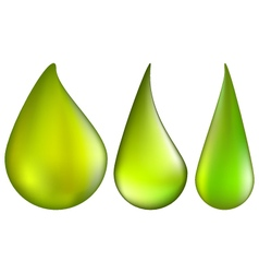 Toxic and danger chemical drop of green acid set vector