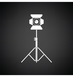 Stage projector icon vector
