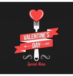 Valentines day menu design background vector