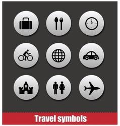 travel symbols set vector image