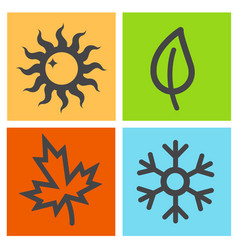 Four season icon vector
