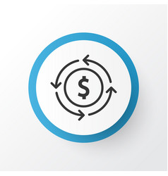 currency interchange icon symbol premium quality vector image