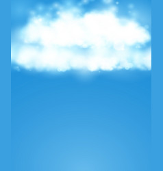 Blue sky realistic blur design abstract shining vector