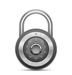 Glossy combination lock vector