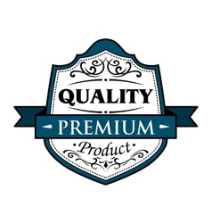 Quality premium product badge vector