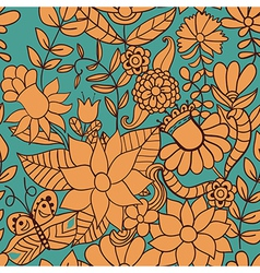 Abstract floral background summer theme seamless vector