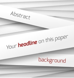 White paper rectangle banner on abstract 3d vector