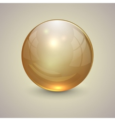 Golden transparent globe on light background vector