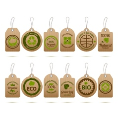 Ecology cardboard tags vector
