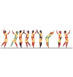 Set of circus dancer poster vector