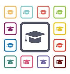 education flat icons set vector image