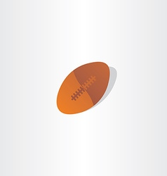 Rugby ball american football icon design vector